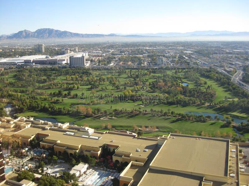 Las Vegas aerea fotografia stock libera da diritti
