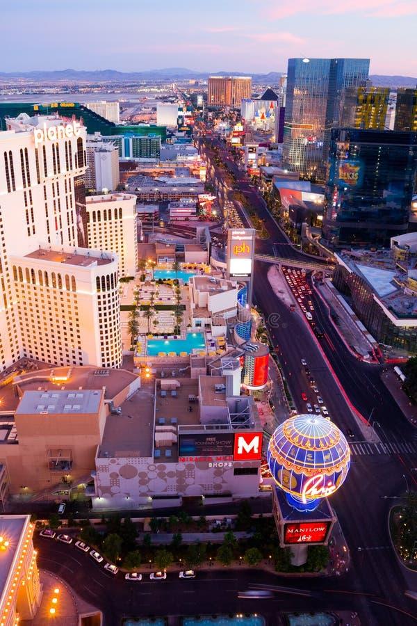 Las Vegas al tramonto fotografie stock libere da diritti