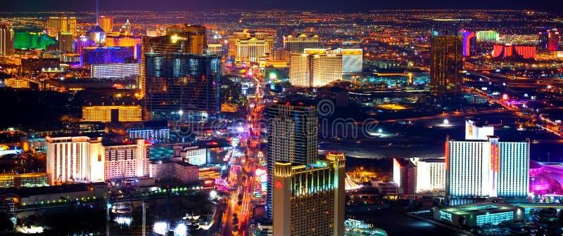 Las Vegas alla notte immagine stock libera da diritti