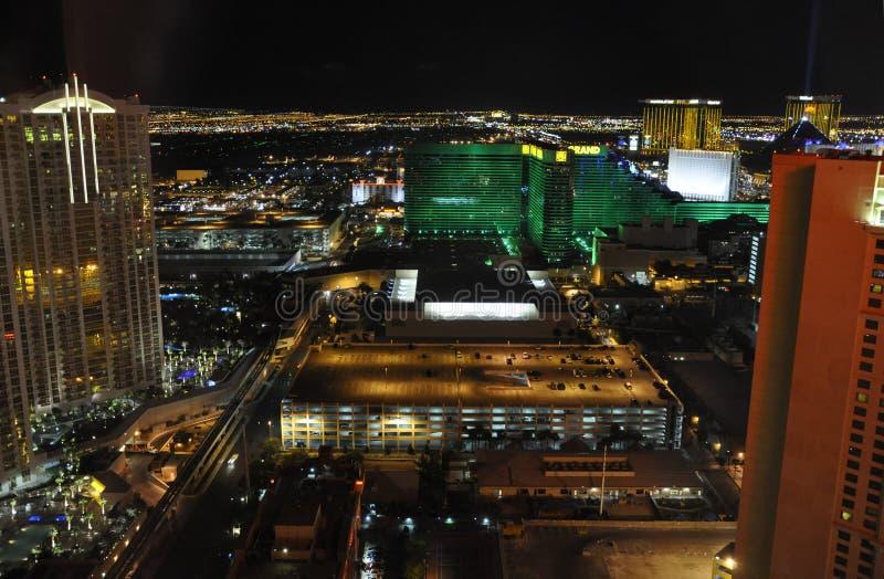Las Vegas alla notte - Las Vegas, S.U.A. immagini stock