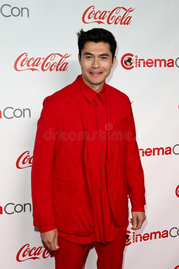 Henry Golding. LAS VEGAS - APR 4: Henry Golding attends The CinemaCon Big Screen Achievement Awards Brought to you by The Coca-Cola Company at OMNIA Nightclub at royalty free stock photos