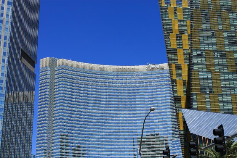 Las Vegas - Aria Hotel y casino fotografía de archivo libre de regalías