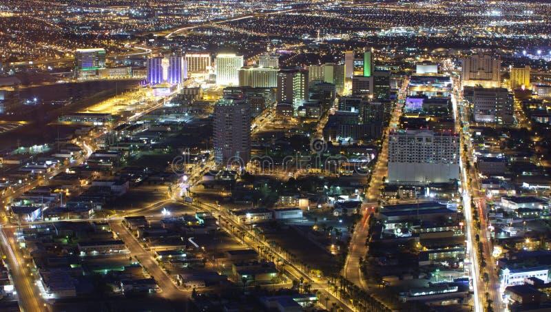 Las Vegas (ariel da noite) fotografia de stock