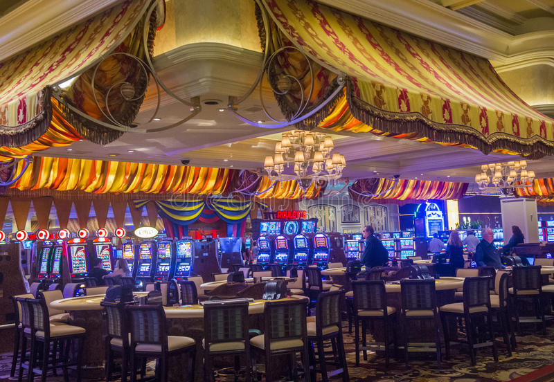 Las Vegas. AUG 13 : The interior of Bellagio hotel and casino on August 13 2013 in . Bellagio is a luxury hotel and casino located on the  Strip. The Bellagio stock images