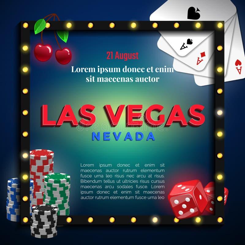 Las Vegas background design. stock illustration
