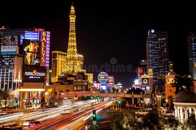 Las Vegas, bande photographie stock