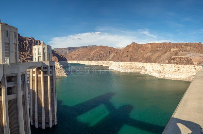 Las Vegas, barrage de Hoover, Nevada, Etats-Unis : [Barrage de Hoover et lac Meeads sur le fleuve Colorado en Nevada Desert images stock