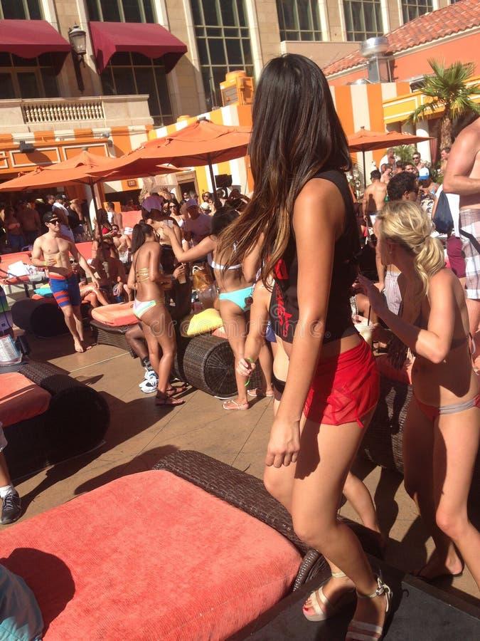Las Vegas basenu przyjęcie przy Tao Weneckim kasynowym hotelem zdjęcia royalty free