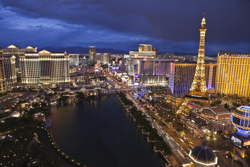 Las Vegas bij Magisch Uur stock afbeelding