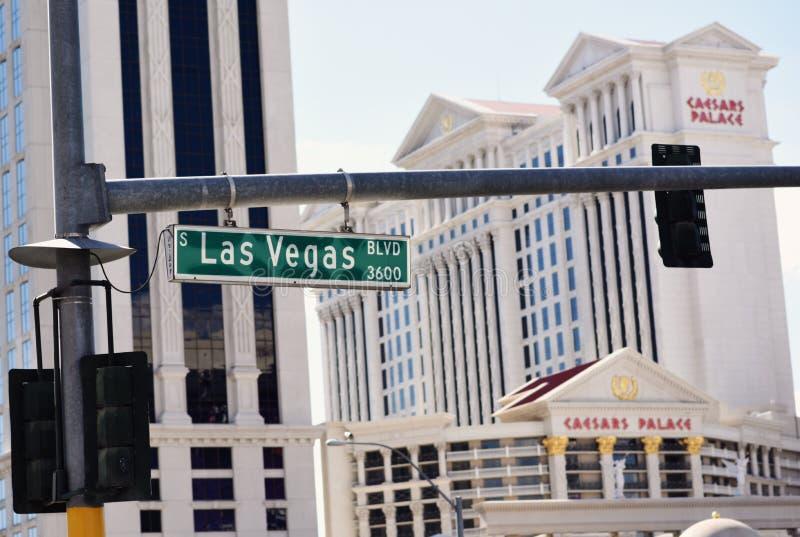 Las Vegas Blvd stockbilder