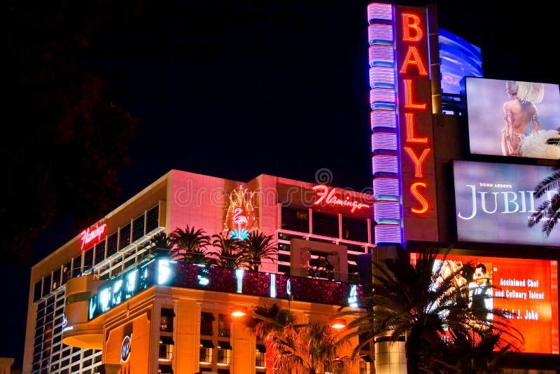 Las Vegas Blvd nachts stockfotos