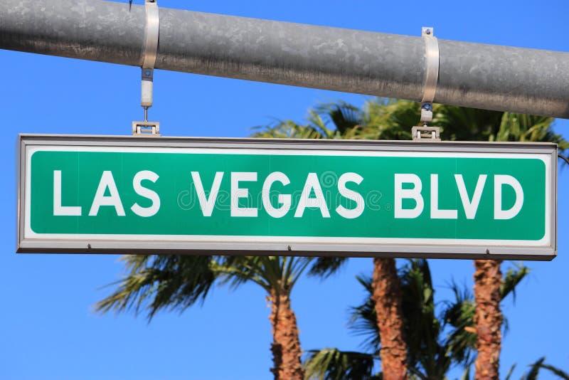 Las Vegas Blvd. Las Vegas, Nevada. Las Vegas Boulevard sign & x28;the Strip& x29 royalty free stock image