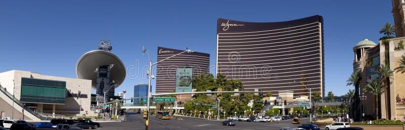 Las Vegas Blvd (panoramisch) stockfoto