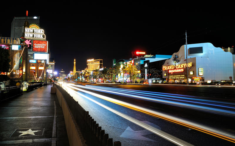 Las Vegas Boulevard royaltyfria bilder