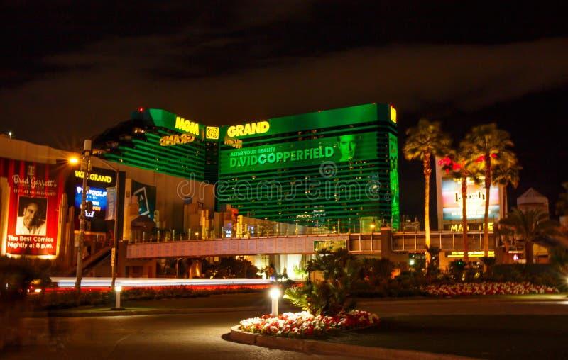 Las Vegas Boulevard et CASINO de MGM photographie stock