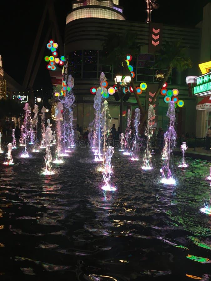 Las Vegas-Brunnen stockbild