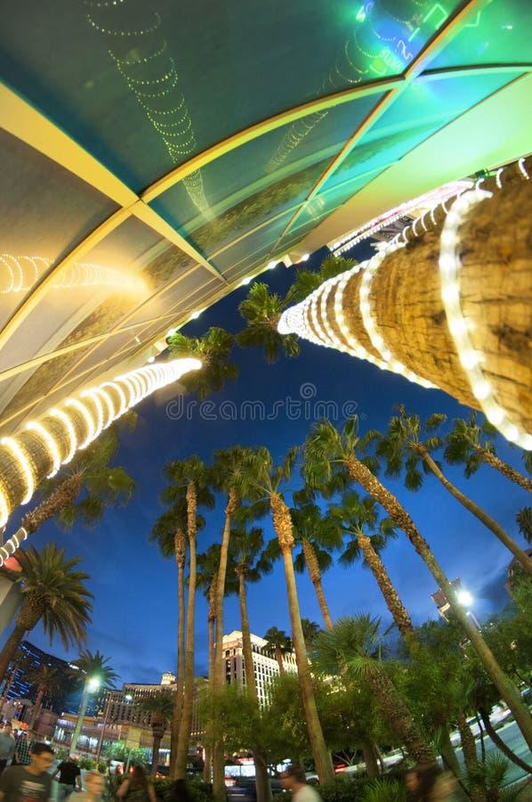 Las Vegas budynku drzewka palmowe fotografia stock