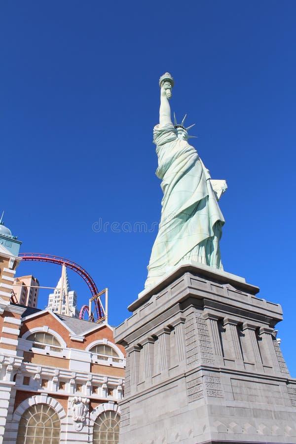 Las Vegas bulwaru statua wolności i znak zdjęcie stock