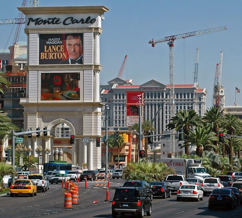 Las Vegas céntrico en la tira fotos de archivo