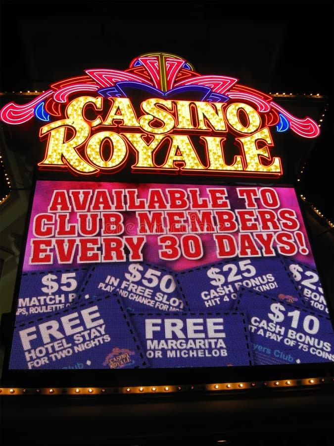 Las Vegas Casino Royale night illumination,