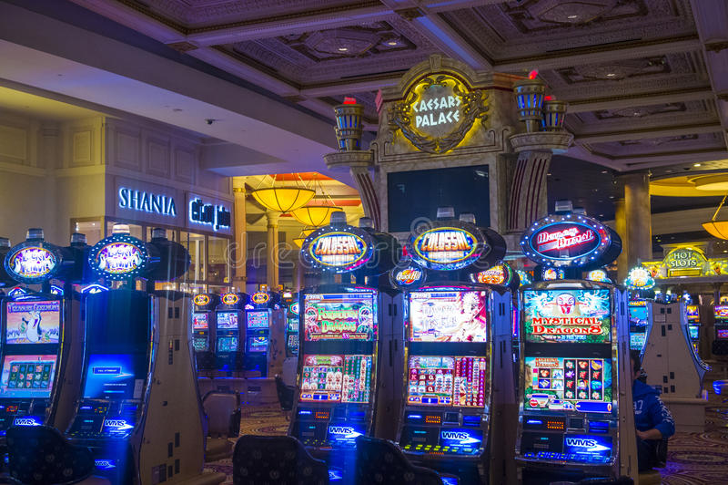 Las Vegas Ceasars slott royaltyfria foton