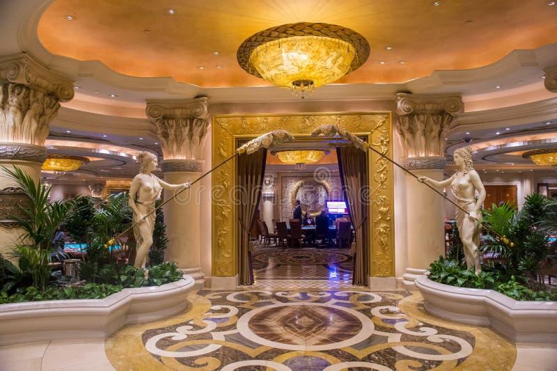 Las Vegas Ceasars slott fotografering för bildbyråer