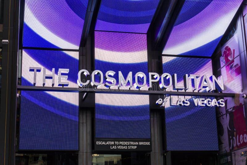 Las Vegas - Circa December 2016: The Cosmopolitan of Las Vegas. The Cosmopolitan is a resort casino and hotel on the Strip I stock photography