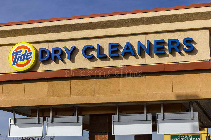 Las Vegas - Circa December 2016: Tide Dry Cleaners Laundry Location. Tide has created a professional dry cleaning service I. Tide Dry Cleaners Laundry Location stock photo