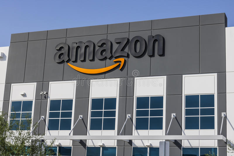 Las Vegas - Circa July 2017: Amazon.com Fulfillment Center. Amazon is the Largest Internet-Based Retailer in the United States IV. Amazon.com Fulfillment Center royalty free stock images
