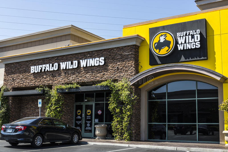 Las Vegas - Circa July 2017: Buffalo Wild Wings Grill and Bar Restaurant. You Can Find Live Sports, Wings and Beer at B-Dubs VI. Buffalo Wild Wings Grill and Bar royalty free stock photography