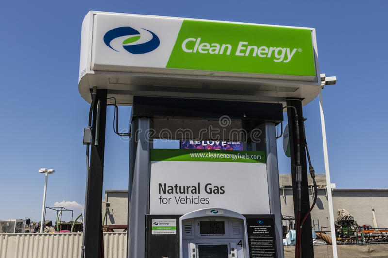 Las Vegas - Circa July 2017: Clean Energy Fuels Natural Gas Station. Clean Energy distributes Compressed natural gas III stock photos