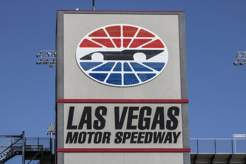 Las Vegas - Circa July 2017: Las Vegas Motor Speedway. LVMS hosts NASCAR and NHRA events including the Pennzoil 400 I. Las Vegas Motor Speedway. LVMS hosts stock image