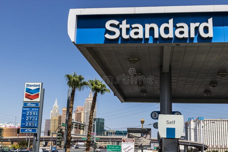 Las Vegas - Circa July 2017: Standard Oil Gasoline Station. The Standard name is a trademark of the Chevron Corporation IV. Standard Oil Gasoline Station. The stock photos