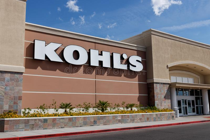Kohl`s Retail Store Location. Kohl`s is accepting Amazon returns free of charge II royalty free stock photo