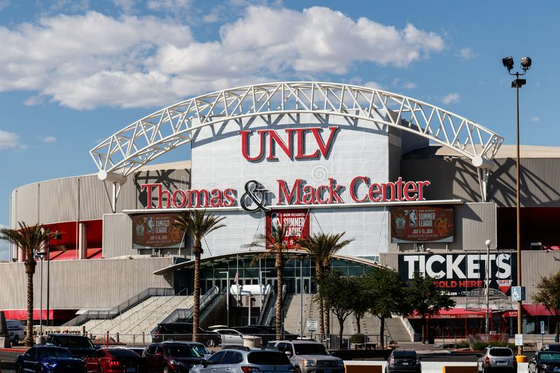 Thomas and Mack Center at the University of Nevada at Las Vegas. UNLV offers more than 350 degrees in varying fields III. Las Vegas - Circa June 2019: Thomas and stock photo