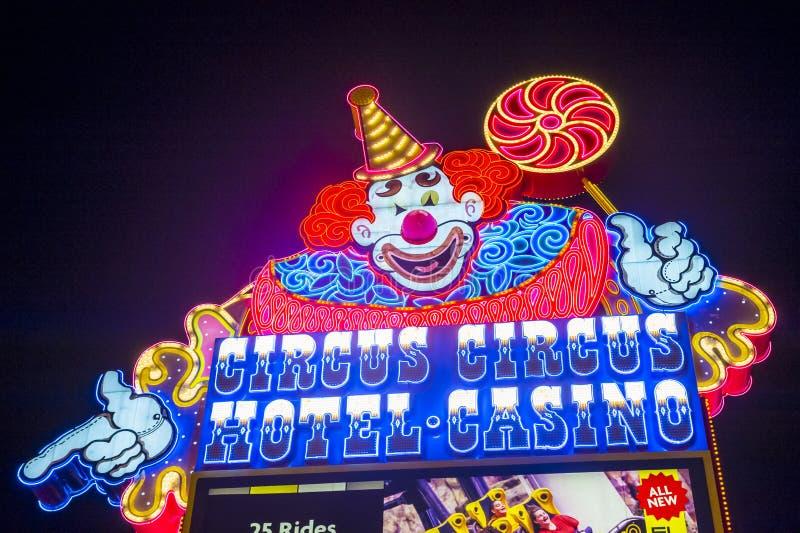 Las Vegas, circo do circo imagem de stock royalty free