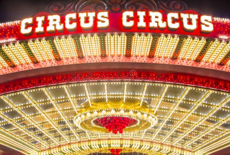 Las Vegas, circo do circo foto de stock royalty free