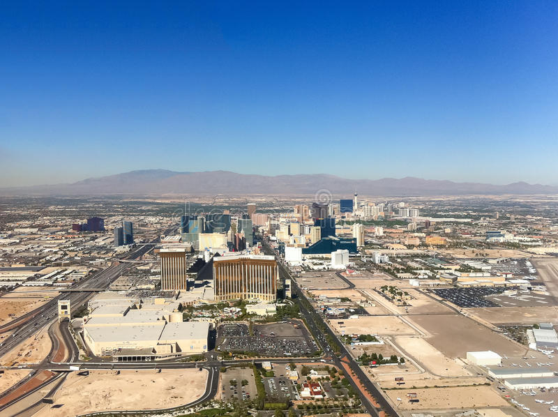 Las Vegas city view from the air. stock photos