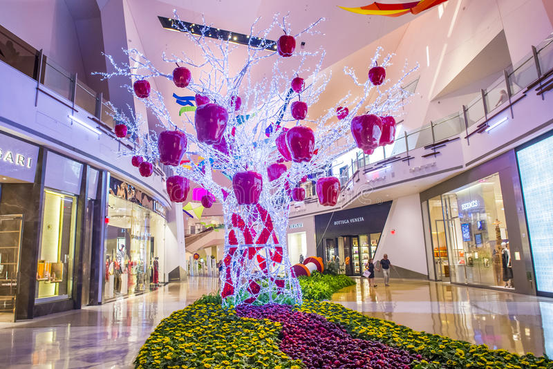 Las Vegas Crystals mall. LAS VEGAS - SEP 03 : The Crystals mall in Las Vegas strip on September 03 , 2015. Crystal offers 500,000 sq ft of retail space stock photo