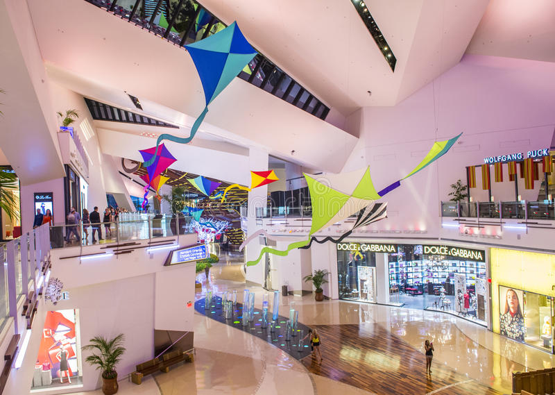 Las Vegas Crystals mall. LAS VEGAS - SEP 03 : The Crystals mall in Las Vegas strip on September 03 , 2015. Crystal offers 500,000 sq ft of retail space royalty free stock image