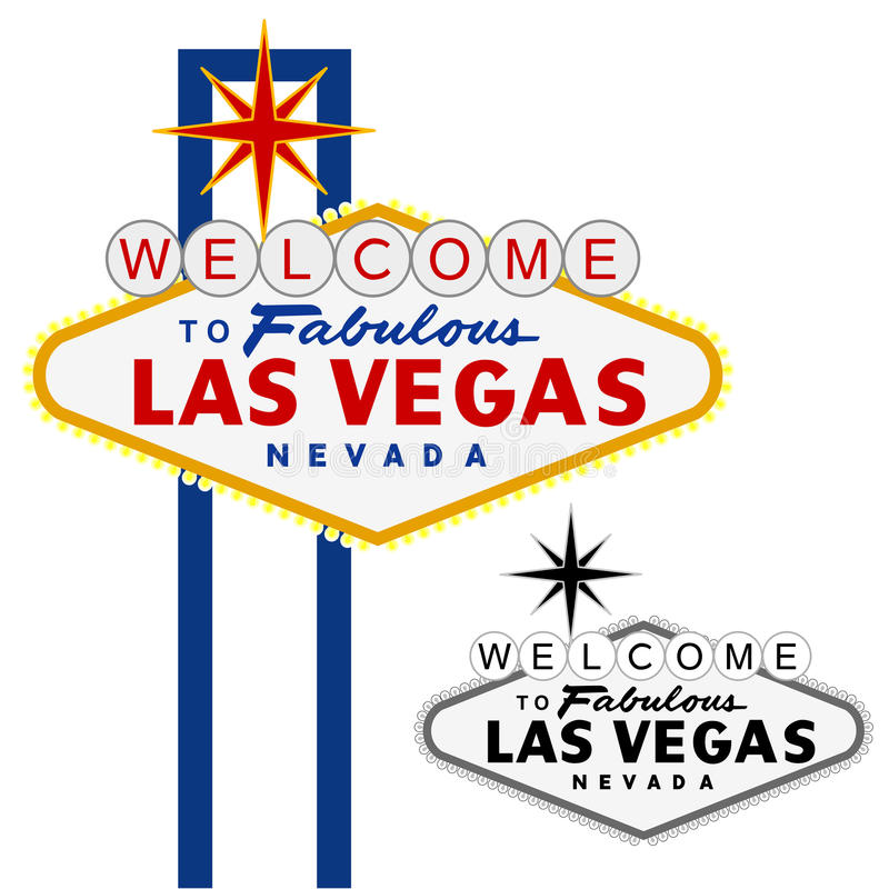 Las Vegas days royalty free illustration