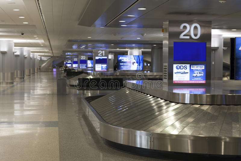 Aeropuerto de McCarren, terminal 3 en Las Vegas, nanovoltio el 30 de marzo de 2013 foto de archivo libre de regalías