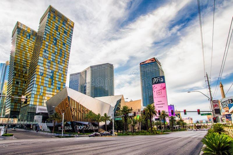 LAS VEGAS - 31 de mayo de 2017 - Aria Resort y casino es un lujo res fotografía de archivo libre de regalías