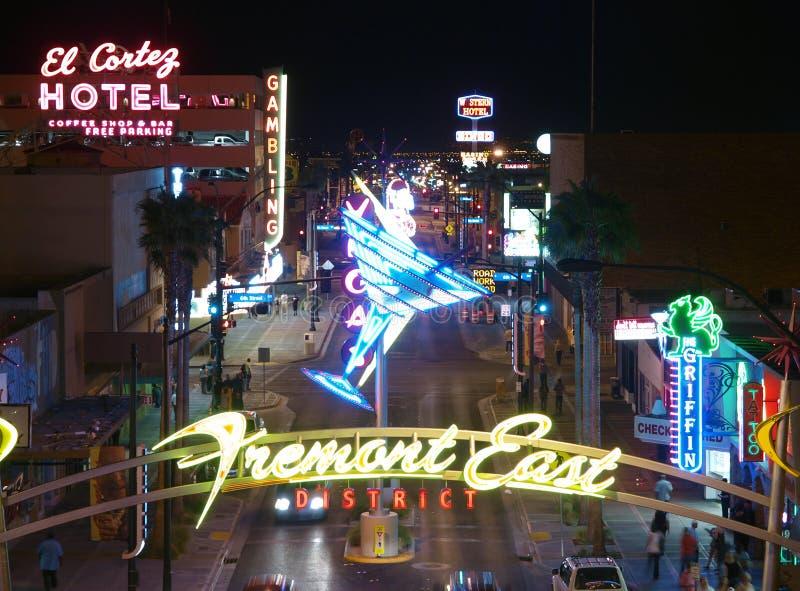 Las Vegas - de Straat van Fremont van het Oosten royalty-vrije stock afbeeldingen