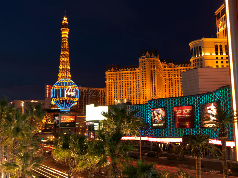 Las Vegas De V.S. Het hotelcasino Parijs royalty-vrije stock foto