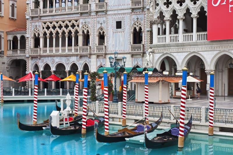 Las Vegas does Venice!. Outdoor scene with gondolas at the Venetian, Las Vegas, Nevada royalty free stock photos