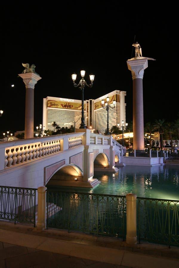 Las Vegas dopo oscurità immagine stock