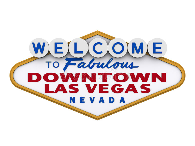 Las Vegas Downtown Sign 1 stock illustration