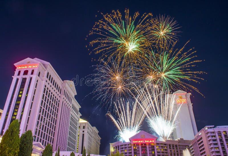 Las Vegas el 4 de julio imágenes de archivo libres de regalías