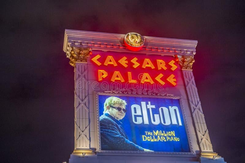 Las Vegas, Elton John immagine stock